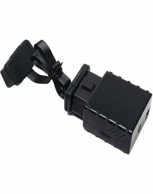 Houston GPS / Cellular Vehicle Real Time Tracking Device.  Houston Surveillance | Cheating Spouse | Monitor Teenage Drivers. Constant power, OBD port hook up.  Covert application with additional extension cable..